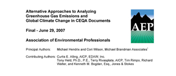 AEP Climate Change White Paper