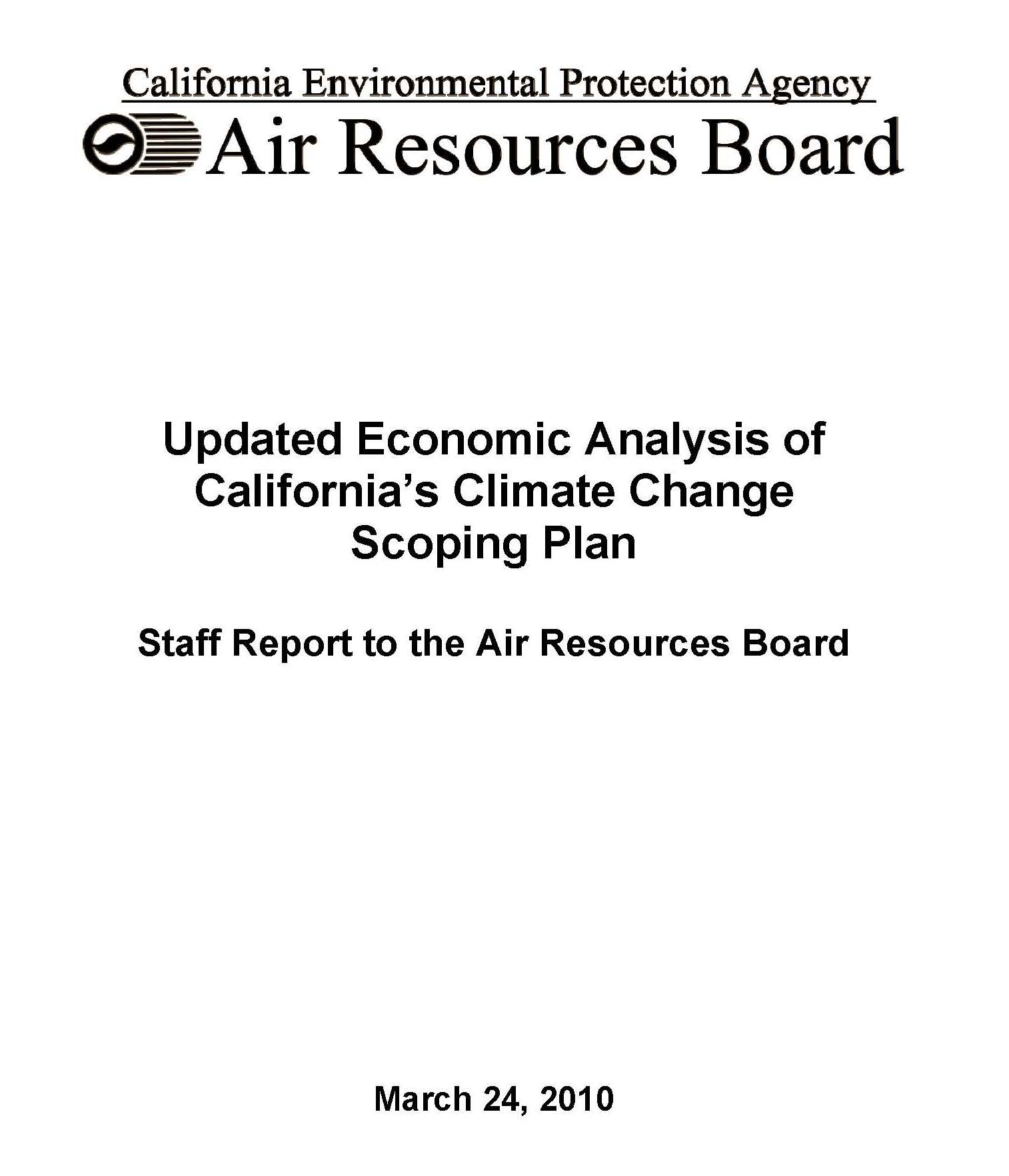 AB 32 Scoping Plan Economic Analysis