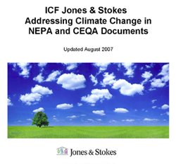 ICF Jones & Stokes Climate Change White Paper